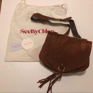 See by Chloe Tan Suede Saddle Bag